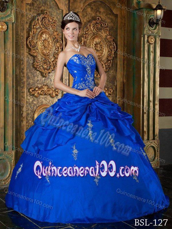 Blue dresses for sweet 15