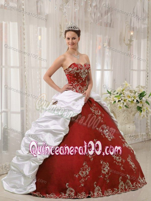 White And Red Quinceanera Dresses & Gowns - Quinceanera 100