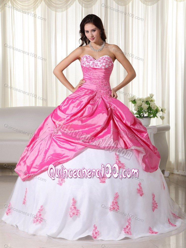 Multi-Colored Dresses for 15 with Pick-ups and Appliques ...