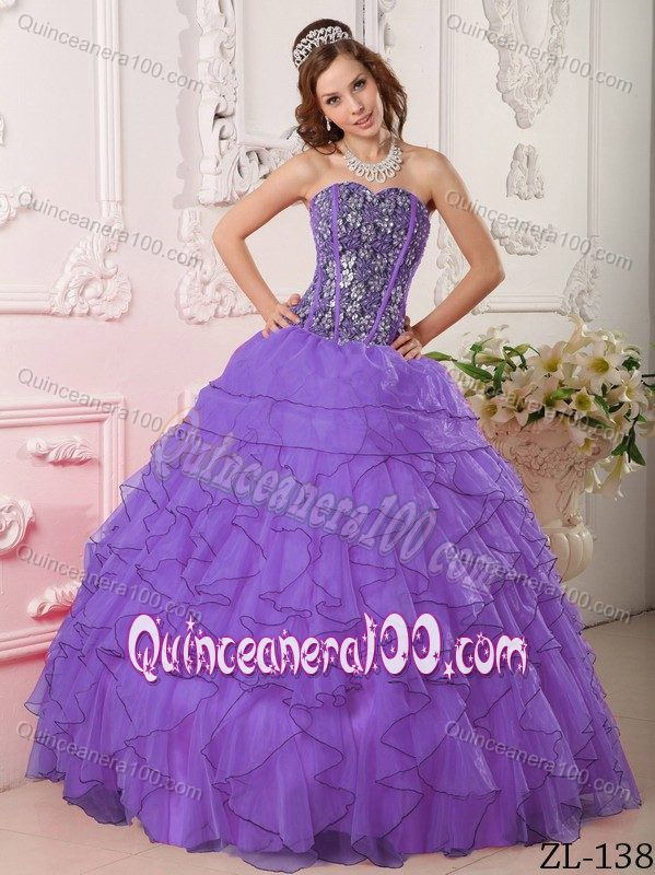 Black and Purple Sweet 16 Dresses with Beading and Ruffles 2013 ...