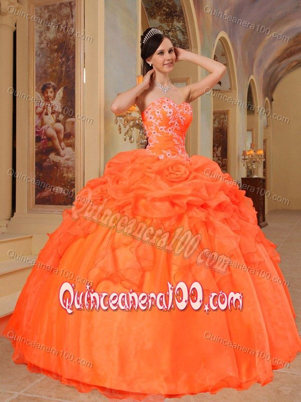 Discount Pretty Orange Quinceanera Dresses - 2017 Quinceanera 100