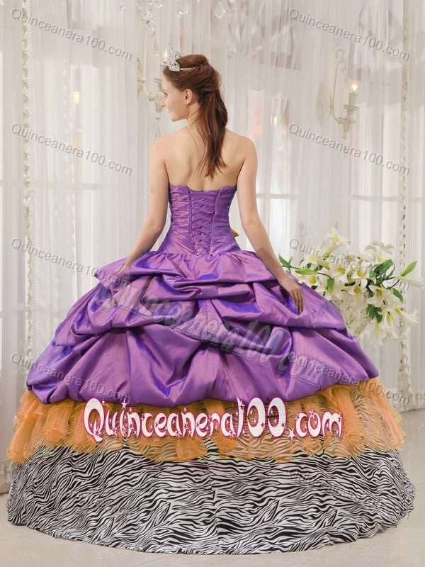 f9f7b597efe Pick ups Zebra Print Quinceanera Dresses Gowns in Multiple Colors ...