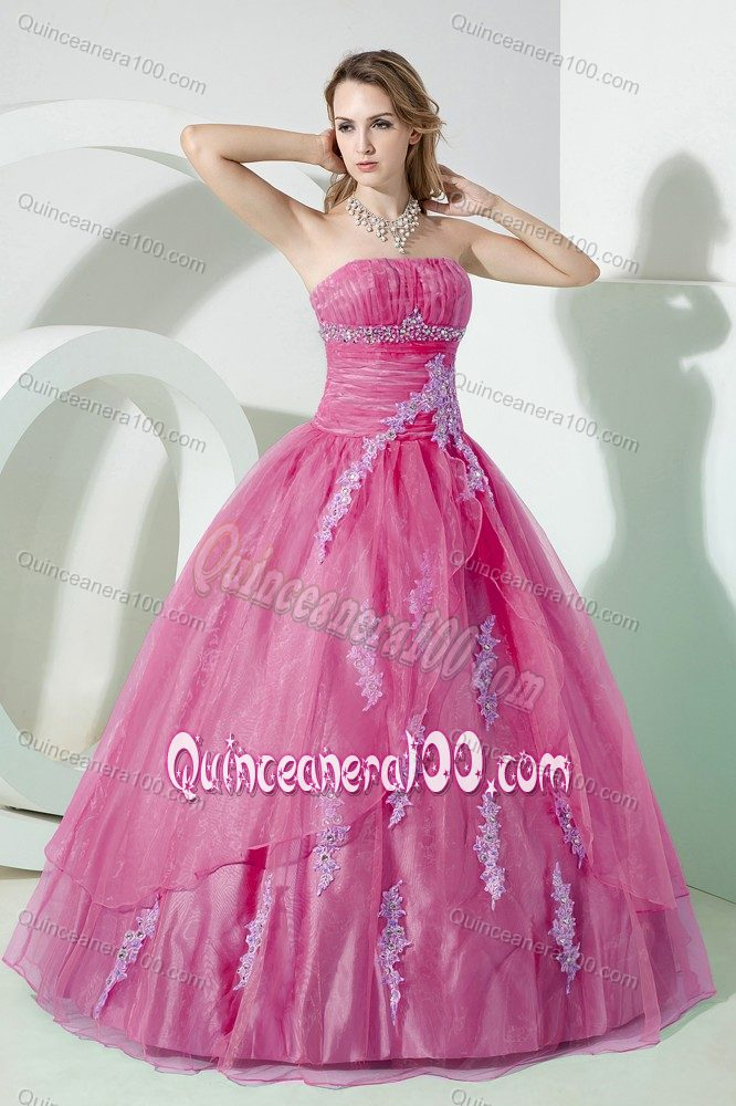 f55a0344eac Custom Made Pale Violet Red Quinceanera Dress with Appliques ...