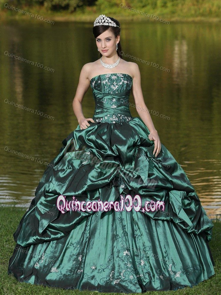 Discount Pretty Dark Green Quinceanera Dresses - 2017 Quinceanera 100
