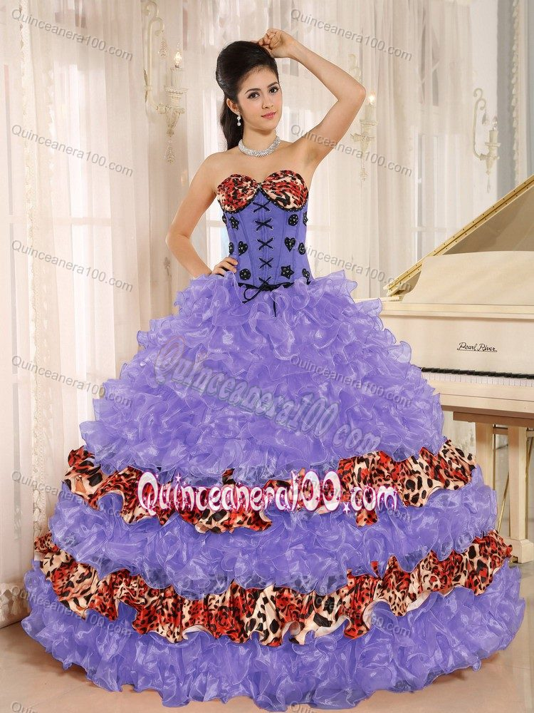 Keyshia Coles Multi-colored Leopard Print Quinceanera Party Dress ...