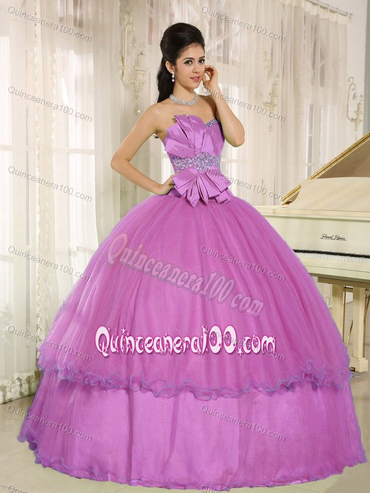 Fast Shipping Beaded Orchid Formal Dress For Quince About 200
