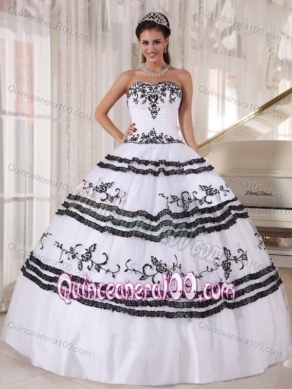 Affordable White Sweet 16 Quinceanera Dress with Appliques ...