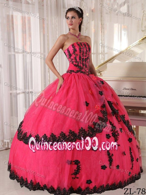 Pink And Black Quinceanera Dresses & Gowns - Quinceanera 100