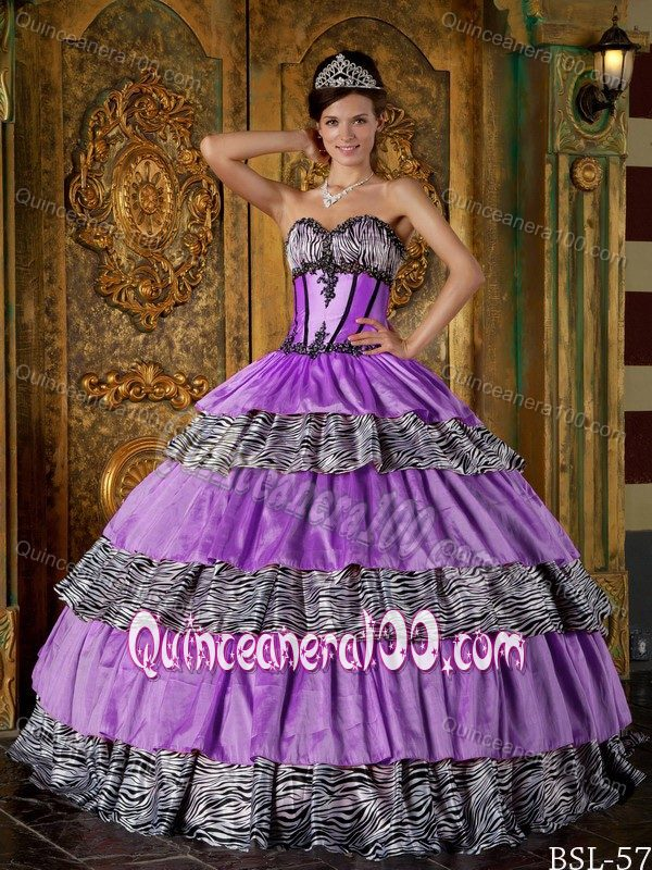 Print Quinceanera Gown