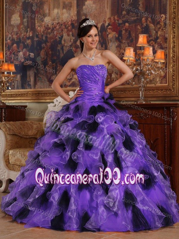Black And Purple Quinceanera Dresses & Gowns - Quinceanera 100