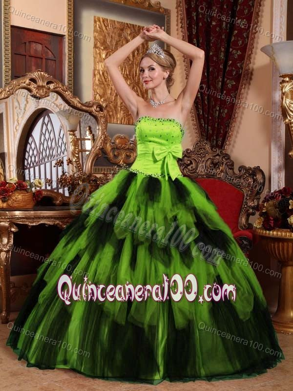 Green And Black Quinceanera Dresses & Gowns - Quinceanera 100
