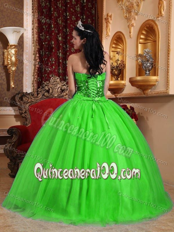 2014 Disney Princesses Green Quinceanera Dresses - Pretty ...