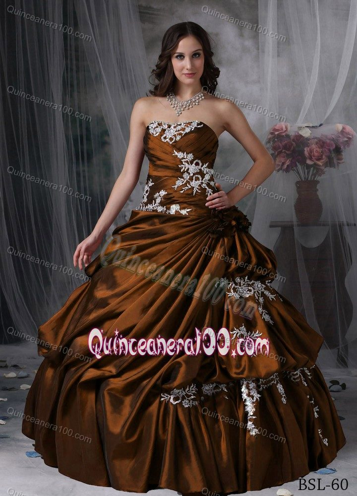 Brown Sweet 16 Dresses