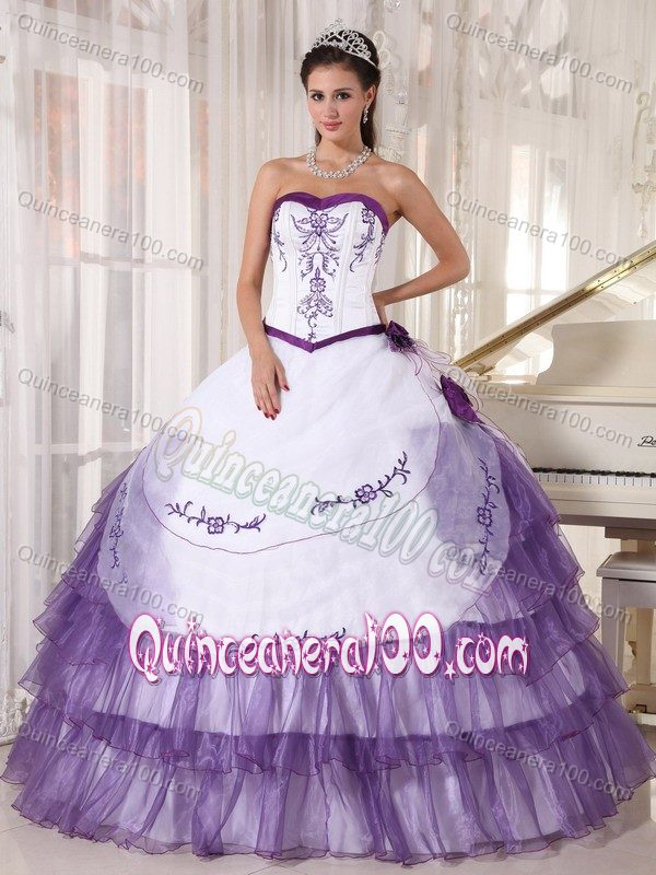 White And Purple Quinceanera Dresses & Gowns - Quinceanera 100