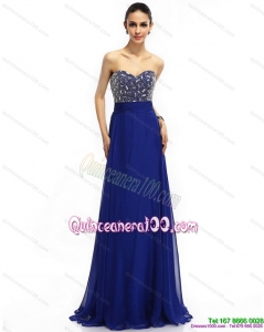 New Style 2015 Sweetheart Dama Dress with Brush Train and Beading
