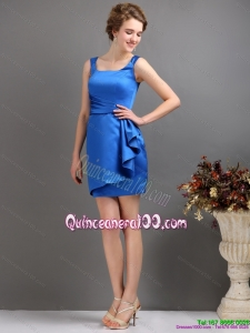 2015 New Style Mini Length Dama Dress with Ruching
