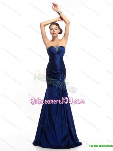 2015 New Style Strapless Mermaid Dama Dress with Beading