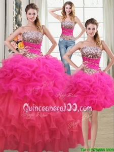 Beautiful Puffy Beaded Bodice and Ruffled Layers Detachable Quinceanera Dress in Two Tone