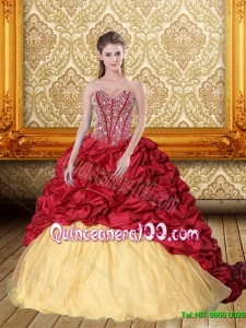 Luxurious Beading and Pick Ups Sweetheart Quinceanera Dresses for 2015