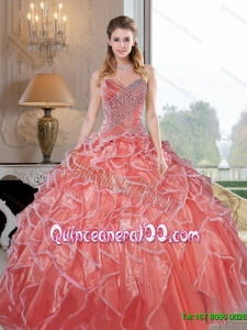 Sophisticated Sweetheart Ruffles and Beading Quinceanera Dresses for 2015