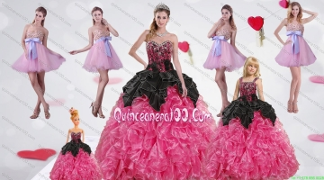 Multi Color Sweetheart Ruffles and Beading Dress for a Quinceanera and Sweetheart Bowknot Short Prom Dresses and Straps Multi Color Girl Pagean Dress