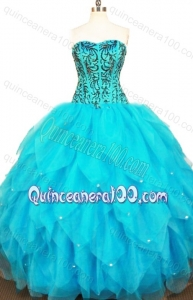 Exclusive Ball Gown Sweetheart Beading and Ruffles Quinceanera Dresses