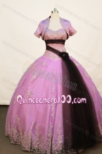 Affordable Sweetheart Ball Gown Lilac Quinceanera Dress With Appliques And sashes
