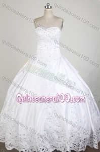 Exclusive Ball Gown Sweetheart White Beading And Embroidery Quinceanera Dress
