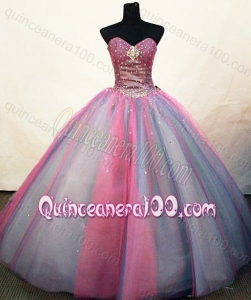 Pretty Ball Gown Sweetheart Multi-color Quinceanera Dresses With Beading