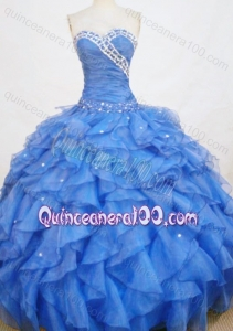 Romantic Ball Gown Sweetheart Beading And Ruffles Quinceanera Dresses
