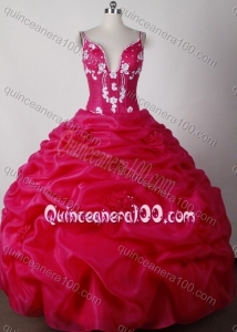Sexy Ball Gown Straps Beading And Pick-ups Quinceanera Dress