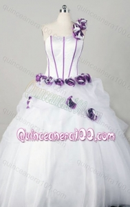 Wonderful Ball Gown One Shoulder Hand make Flower Quinceanera Dresses