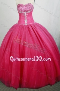 Beautiful Red Ball gown Sweetheart Beading Quinceanera Dresses