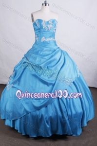 Elegant Ball gown Sweetheart Floor-length Quinceanera Dresses With Appliques