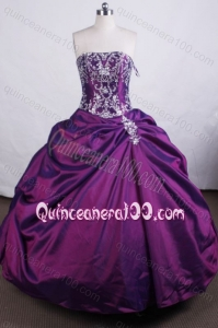 Luxurious Ball Gown Strapless Embroidery And Pick-ups Quinceanera Dresses