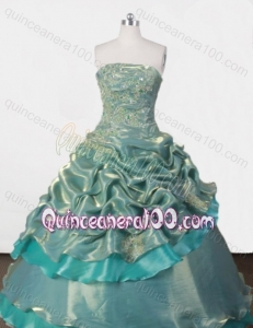 Exclusive Ball Gown Strapless Appliques and Pick-ups Quinceanera Dresses