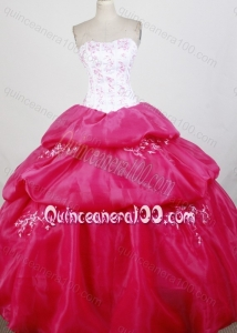 White and Pink Sweetheart Ball Gown Quinceanera Dresses with Embroidery