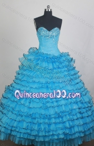 Beautiful Ball gown Beading and Ruffles Sweetheart Quinceanera Dresses
