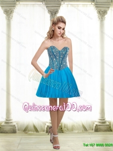 2015 Beautiful A Line Sweetheart Dama Dresses for Quinceanera