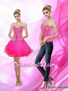 Exclusive Sweetheart A Line Beading Dama Dresses for Quinceanera