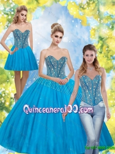 Luxurious Beading Sweetheart Quinceanera Dresses for 2015
