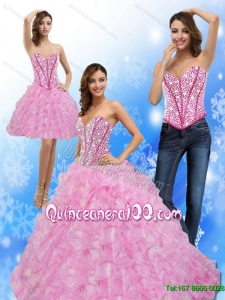 New Arrival Beading and Ruffles Sweetheart 2015 Quinceanera Dresses