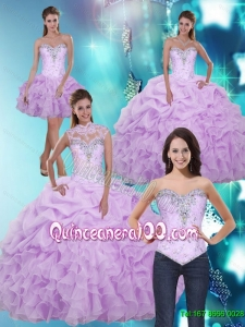 2015 Luxurious Sweetheart Quinceanera Dresses with Beading and Ruffles