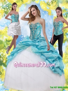 New Arrival Quinceanera Dresses with Embroidery and Pick Ups