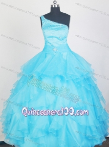 2013 Lovely Aqua Blue Little Gril Pageant Dress With Ruffles and Beading