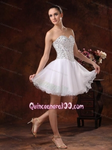 Sweetheart Short Beading 16 Birthday Party Organza White