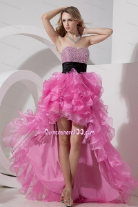 Rose Pink A-line / Princess Prom Dress Sweetheart 16 Birthday Party