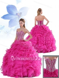 Beautiful Sweetheart Beading and Ruffles Quinceanera Gowns for Party
