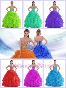 Ruffles Sweetheart Beading Dresses For a Quinceanera in Spring