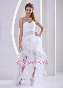 2014 Spring Ruffles Design Dama Dress with Beaded and Ruched